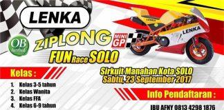 Jangan Lupa, Balap MiniGP LENKA Ziplong Fun Race Digelar di Solo Sabtu 23 September