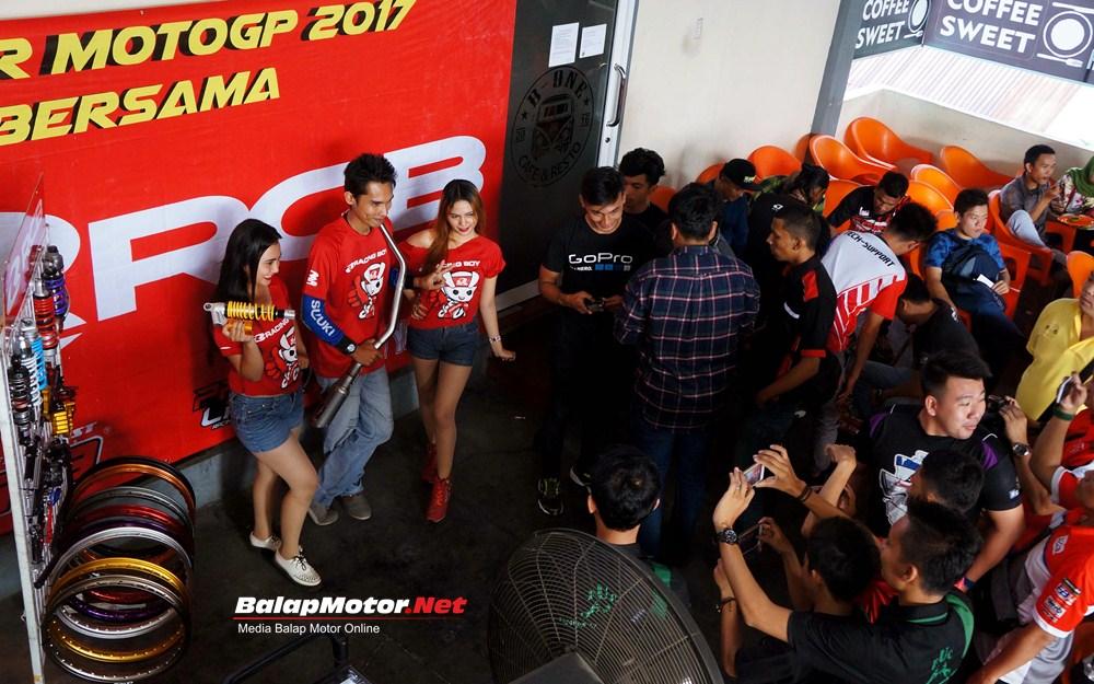 RCB Nobar MotoGP 2017 Medan Diserbu Ratusan Bikers