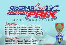 Hadiah Total 82 Juta Plus Dua Unit Motor Siap Digelontorkan di Gubernur Cup Motorprix 2017 Open Tournament Palangkaraya 14-15 Oktober