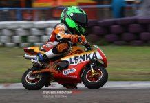 Pacu LENKA GPR, Herlian Dandy Pecahkan Rekor Time MiniGP di Sentul Karting