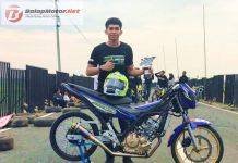 Pembalap Suzuki Asian Challenge Ini Juara di Kejurnas Drag Bike Takalar, Pakai Satria Injeksi