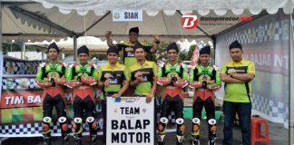 Tim Cabor Balap Motor Kab. Siak Raih Juara Umum Porpov Riau IX 2017