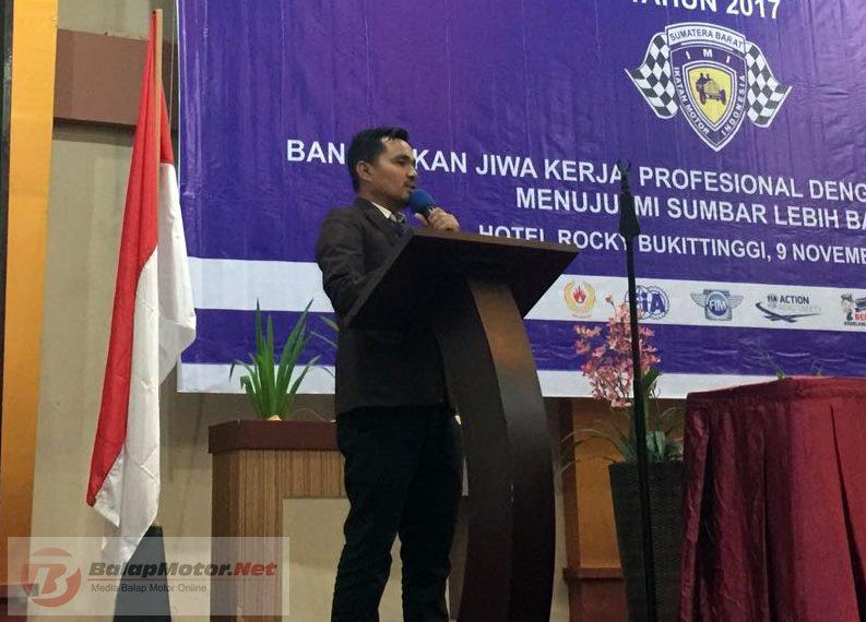 Bos Denas Racing Defri Nasli Terpilih Sebagai Ketua Umum IMI Sumatera Barat