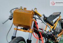 Tangki Depan Drag Bike Inovasi Dari B Pro Racing, Tampilan Keren, Bobotnya Cuma 4 Ons Bro