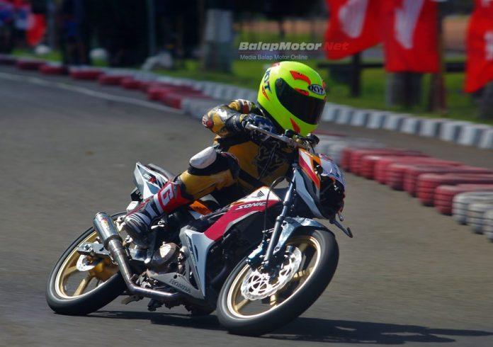 Juara Nasional Motocross 65cc 2017 Dheyo Wahyu Lakukan Debut Road Race di Cimahi