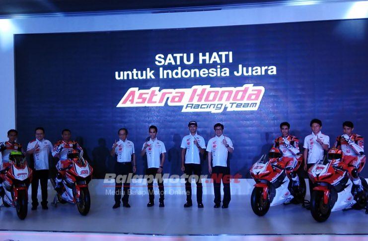 Satu Hati Untuk Indonesia Juara, Berikut Formasi Astra Honda Racing Team di Tahun 2018