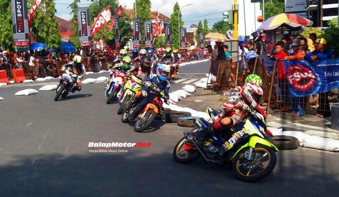 Meski Bentrok, Poetra Jaya Road Race Blora 2018 Tetap Diikuti 260 Starter