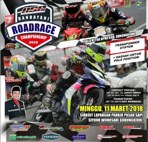Handayani Road Race Championship Wonosari, Minggu 11 Maret 2018