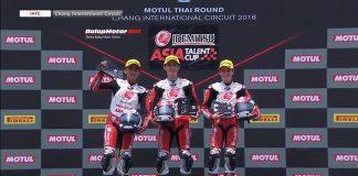 Mario SA Podium 2 di Race 1 Asia Talent Cup Round 2 Buriram, Thailand
