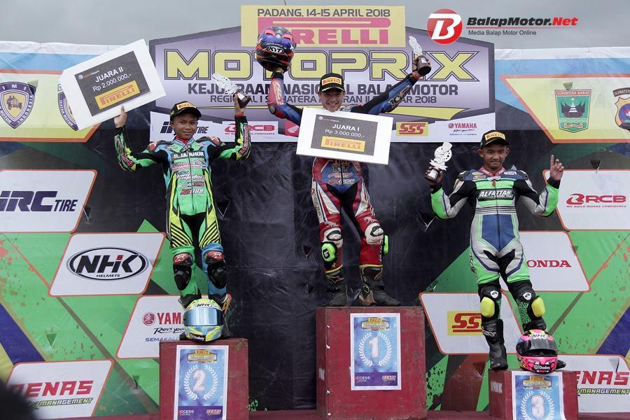 """Pembalap Pemula B Yamaha Denas """"Ahmad Saifullah"""" Tampil Briliant di Motoprix Padang 2018"""