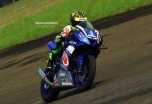 Rider 12 Tahun Asal Sampang Madura, Aditya Dwi Cahyadi Terus Tunjukan Bakatnya di Kelas All New R15 Idemitsu Junior Pro