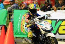 Gadis Cilik Rider MiniGP Astrit Galau Lakukan Debut di Balap Matic