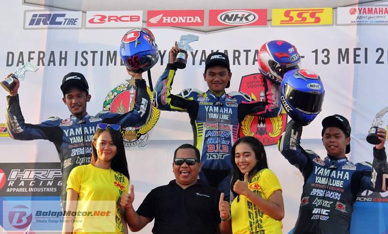 Lolos Dari Kepungan, Syamsul Arifin Tinggal Jauh Lawan di Race MP1 Motoprix Wonosari 2018