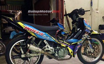Jupiter Z (MP6) Karbu Hasil Karya Bos Indela Racing Team Ini Lolos Dari Kepungan Injeksi di Road Race Musi Rawas