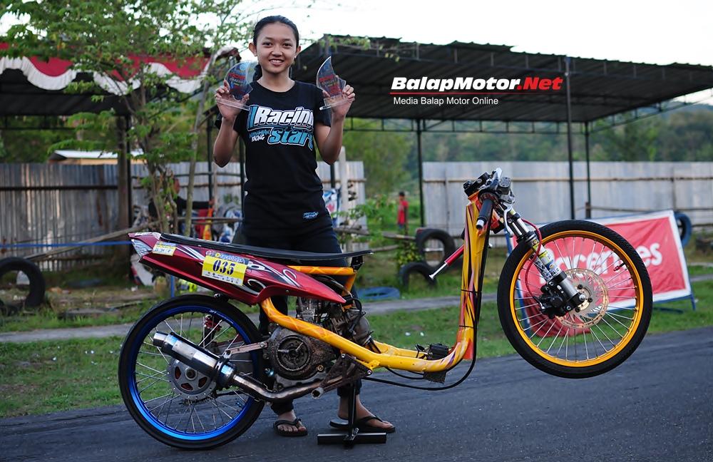 GDS Fun Drag Bike: Daffa Della Masih Juara, Salah Satu Jurusnya Konsisten Ikut Latihan Bersama