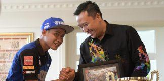 Galang Hendra Dapat Apresiasi Dari Menpora Atas Kemenangannya di Balapan Dunia
