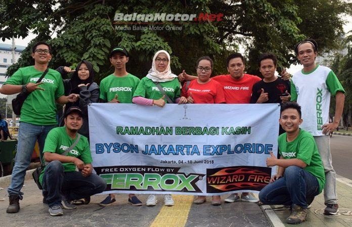 Komunitas Byson Jakarta Exploride Gelar Bakti Sosial Bagikan Paket Berbuka Puasa