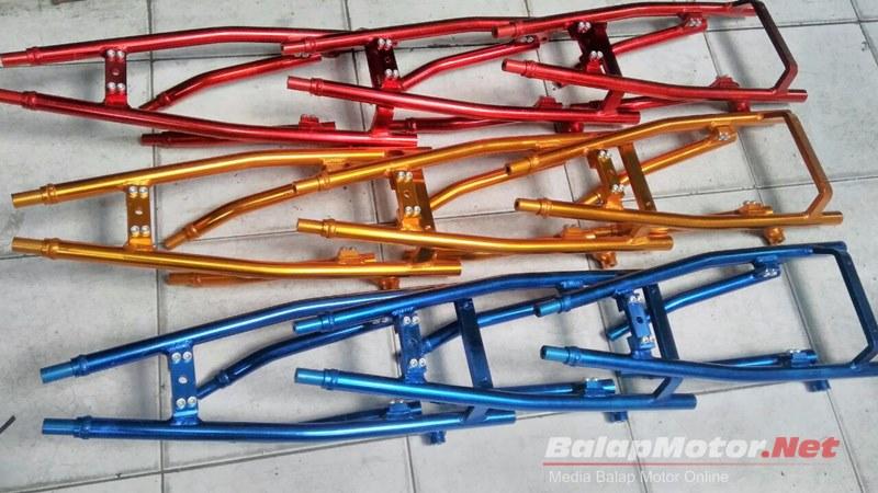 Nih Penampakan Yamaha Jupiter Z Full B Pro Racing, Dari Swing Arm Sampai Rangka Duralium