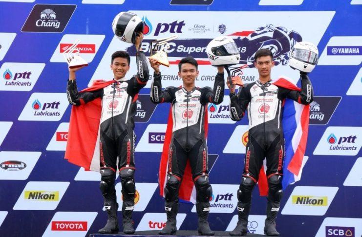 Herjun AF Kibarkan Merah Putih di Race 2 Thailand Talent Cup
