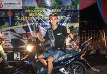 Dragbike Tulang Bawang Barat: Bersama Berkah Sari Karya, Erwin Sredex Juara Umum dan Dapat Motor Baru Coy