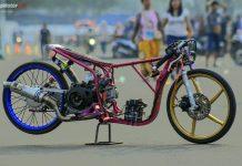 Dipacu Erwin Sredek, Yamaha Mio Moon Racing Tercepat di Matic 200 Drag Bike Meikarta, Nih Bocoran Modifikasinya