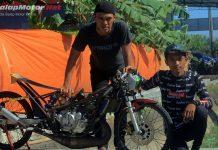 Drag Bike Kebumen 2018: Wildan Kecil Feat Ninja Kang Dadang Best Time FFA 6,7 Detik!