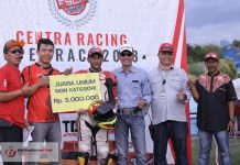 Safrianto Ilham dan TM Kausar Juara Umum Centra Open Race 2018