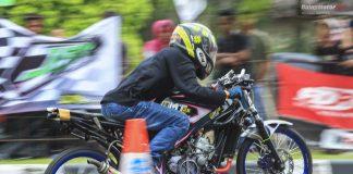 Drag Bike Bangka Belitung : Eko Chodox Antar BMT28 Rajai Kelas Sport 2T 155cc Frame STD
