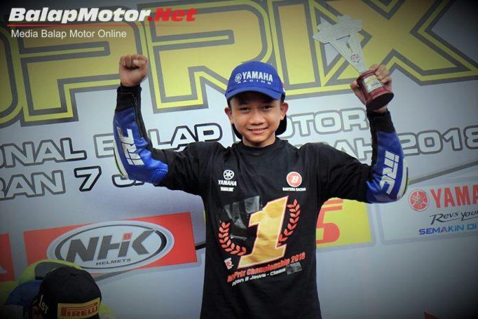 Bocah Asal Boyolali Ini Raih Juara Region MP5 Motoprix Jawa 2018, Target Kejar Juara Indonesia