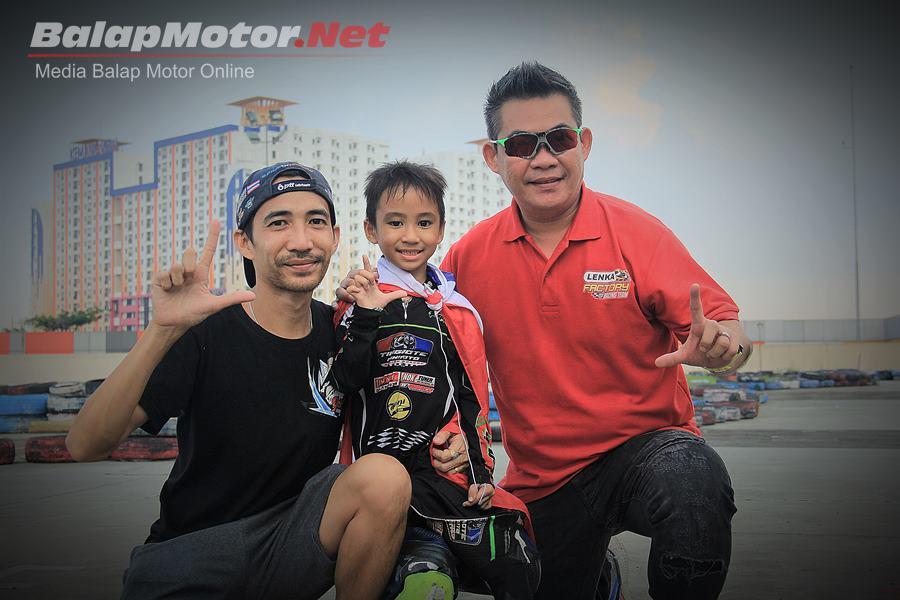 Bocah Thailand Ini Tunjukan Tajinya di LENKA MiniGP Cup Race 2018, Habiskan 50 Juta Sekali Balap di Indonesia