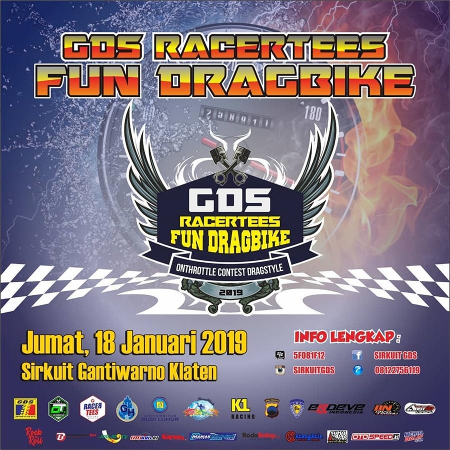 GDS Fun Drag Bike Racertees ABRT20, 18 Januari 2019: Rebut Prestasi Awal Tahun, Are You Ready?