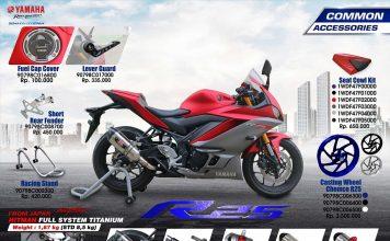 Nih Beragam Aksesoris & Apparel Dari Yamaha untuk New R25