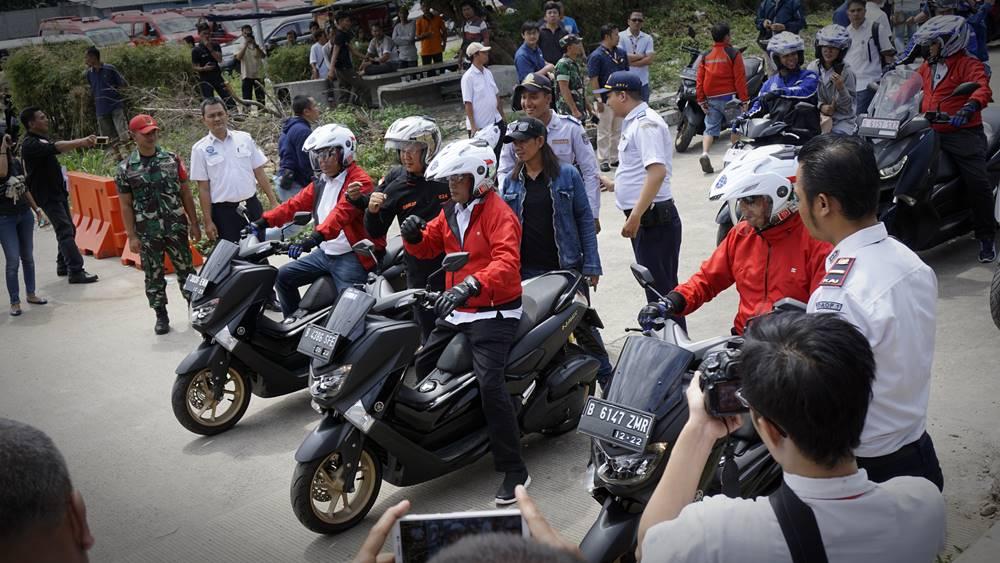 Yamaha Support Kementerian Perhubungan Menggelar Sosialisasi Keselamatan Berkendara