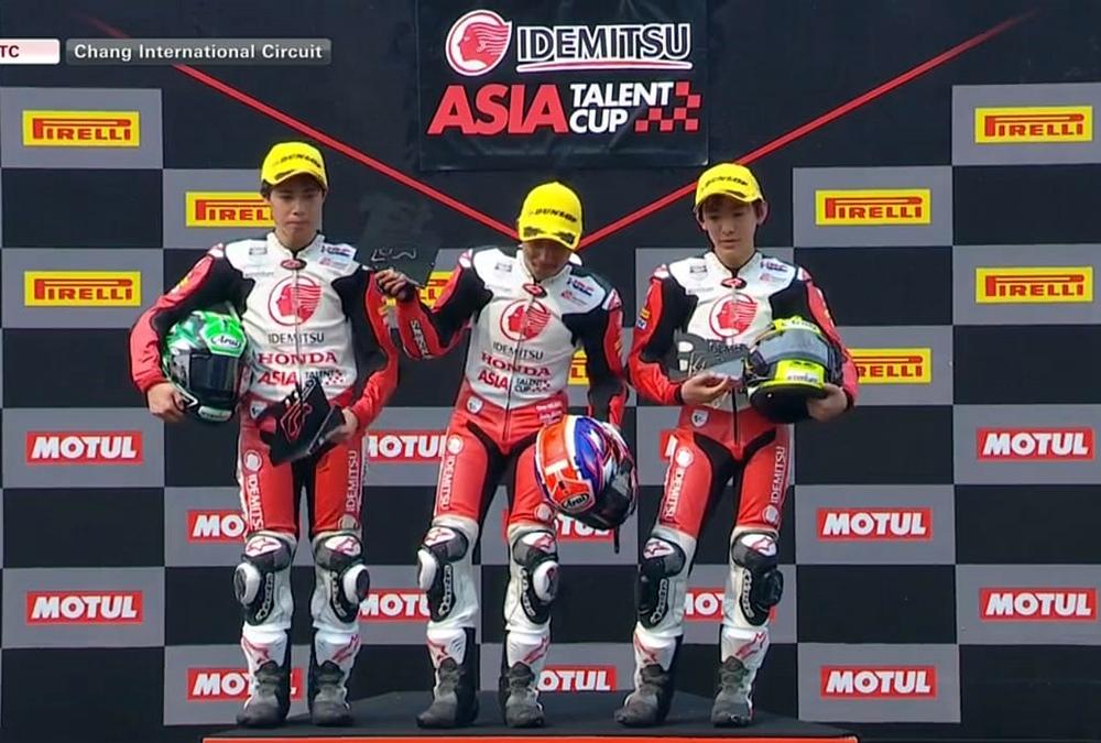 Taklukan Duo Jepang, Afridza Syah Juara Race 1 ATC Thailand 2019