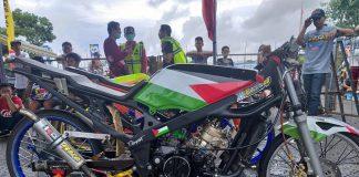 Ninja Palestina 'Monalisa Optik Martapura Rafa Racing' Terbaik di Drag Bike Kalimantan